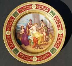 An Antique Hand Painted Royal Vienna Plate