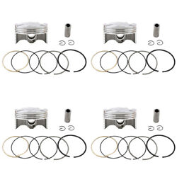 4x Piston Rings Pin Clips Kit 67.25mm For Yamaha Yzf-r6 08-17 13s-11631-00-00