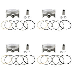 4x Piston Rings Pin Clips Kit 67.5mm +50 For Yamaha Yzf-r6 08-17 13s-11631-00-00