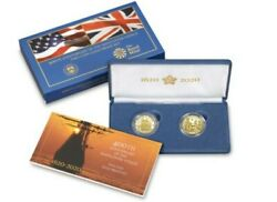 Sealed Box Two Coin Mayflower Voyage 400th Anniversary Gold Proof 20xa In Hand
