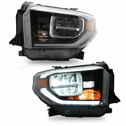 Vland Led Sequential Headlight Corner Lamp For 2014-2015 2017-2019 Toyota Tundra