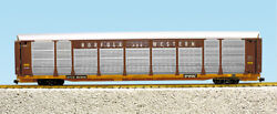 Usa Trains G Scale Bi Level Auto Carrier R17194 Norfolk And Western Brown/yellow