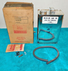 1961 1962 1963 Ford Mercury Nos Rear Axle Vent And Hose Kit With 5 Pints Lubricant