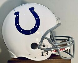 Lenny Moore Autographed Indianapolis Colts Full Size 14 Nfl Football Helmet