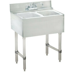 Advance Tabco Crb-22c 24x21x33 2-comp S/s Underbar Hand Sink W/ Faucet Nsf