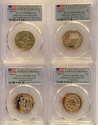 2020 S American Innovation Four Coin Proof Set Pcgs Pr70 Dcam First Strike