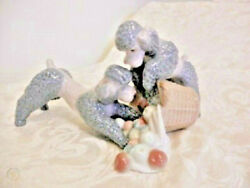 Lladro Very Rare Cute Dogies With Apples
