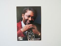 The Thrill Is Gone Bb King Hand Signed 4x6 Color Photo Todd Mueller Coa