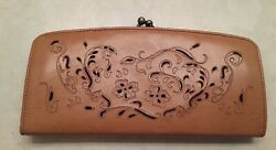Hobo Wallet Vintage Lacy Brown Leather $19.50