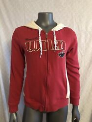 Reebok Womens Minnesota Wild Hooded Sweatshirt Medium