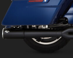 Vance And Hines Pro Pipe Exhaust 2 Into 1 System Black Harley Street Glide 2017-19