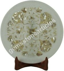 12 Marble Round Collectible Food Plate Mop Stone Pietradura Art Columbus Gifts