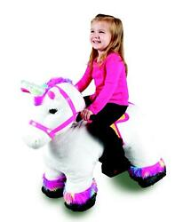 Willow Unicorn Plush Ride-on With Light Up Horn 6 Volt Play Stable Buddies Set