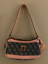 Dooney And Bourke Vintage Mini Denim And Pink $31.00