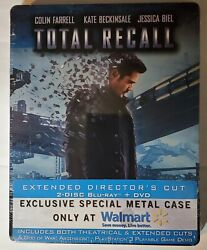 Total Recall Special Metal Case 2 Dics Blu-ray + Dvd Extended Director's Cut