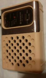 Vintage Sanyo Transistor Radio Rp1250 Off White I Got One Station To Come In.