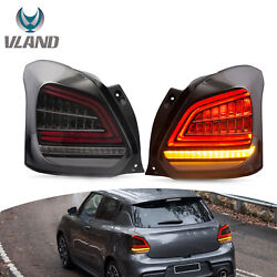 Blackandwhite Led Sequential Drl Taillight Assembly For 2017-2020 Suzuki Swift