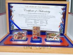 2012 Cook Islands 1 Lunar Year Of The Dragon Silver Proof 3-coin Set 龍 Chinese