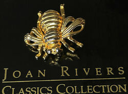 Joan Rivers gold and silver accents Bee pin Brooch New in Box $25.00