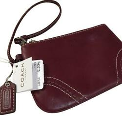 COACH SOHO Smooth Red Leather Wristlet Purse Wallet F40575 $25.00