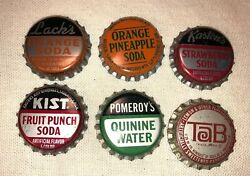 Rare Vintage Kastenand039s Lackand039s Kist Tab Pomeroyand039s Cork Soda Bottle Cap Lot Collect