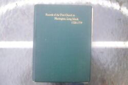 Records Of The First Church In Huntington Long Island 1899 5/500 Signed