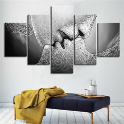 Framed Wall Art Love Kiss Abstract Canvas Painting Home Living Room Decor