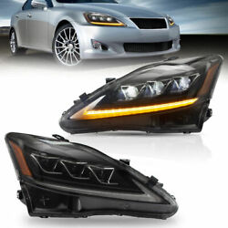 Drl Led Headlight Turn Signal Light For 20062012 Lexus Is250 Is350 Is F Model
