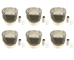 🔥mahle Set Of 6 Piston And Cylinder Kit 90.0 Mm 8.51 Compression For Porsche🔥