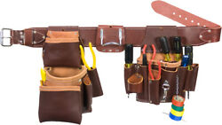 Select Size Occidental Leather 5036 Leather Pro Electrician Tool Belt Bag Set