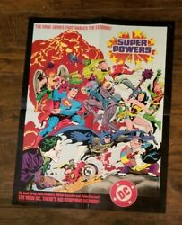 D C Comics 1984 Jack Kirby's Superheroes Poster Pre-owned