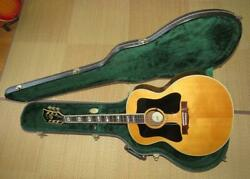 Rare Guild F-50r Double Pickguard Natural Acoustic Guitar W/ Hard Case Usa Made