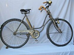 Antique French Womanand039s Bicycle Lotand039s Of Accessories 1920and039s - 1930s