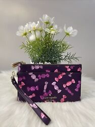 New Kate Spade Staci Candy Shop Wrapper Double Zip iPhone Wristlet Purple Gift $58.99