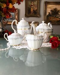 Tea And Coffee Set Morning Mist By Northumbria England Hand Painted