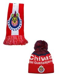 Chivas Del Guadalajara Package Beanie And Scarf Officially Licensed Icon Sports