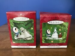Hallmark Keepsake Ornaments Frosty Friends Collector's Series 21 And 22