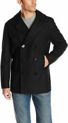 Nautica Menand039s Classic Double Breasted Peacoat