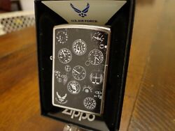 United States Air Force Usaf Plane Instrument Panel Zippo Lighter Mint