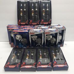 Lot Of Spider Man And Captain America Bottle Opener/stopper And Pen Sets New
