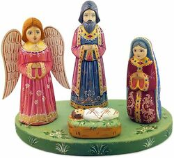 D Religious Gifts Nativity Handcrafted Scene For Christmas Christ With Angels