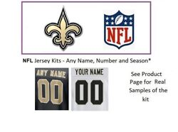 Nfl New Orleans Saints Jersey Kit Custom Lettering Any Year Name Number Unsewn