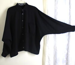 Shirin Guild O/s S M L Xl 90bust Wow Tropical Wool Boxy Shirt Blouse Top Lux