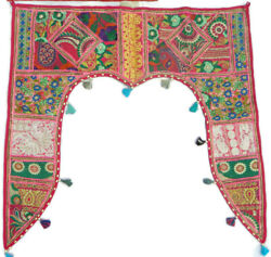 Door Hanging Valance Embroidered Handmade Toran Gate Topper Indian Traditional