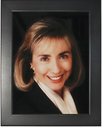 Hillary Rodham Clinton Photograph In A Smooth Black Frame