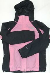 NorthFace Women#x27;s Pink amp; Gray Hooded HYVENT Wind Breaker Size Medium $30.00