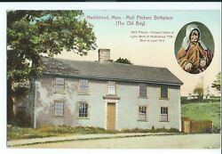 Vintage Postcard Moll Pitchers Birthplace The Old Brig Marblehead Ma Vpc1.