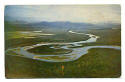Postcard Aerial View Yukon River Whitehorse And Fairbanks Unposted Me8.