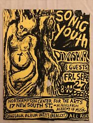Sonic Youth + Dinosaur - Vintage Punk Rock Hard Core Flyer / Poster 1980s