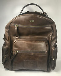Rawlings Dark Brown Rugged Leather Backpack RB60007 200 New $399.99